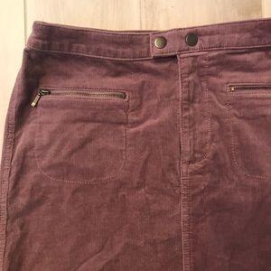 NWOT Corduroy Mini Skirt in a Dusty Rose/Purple